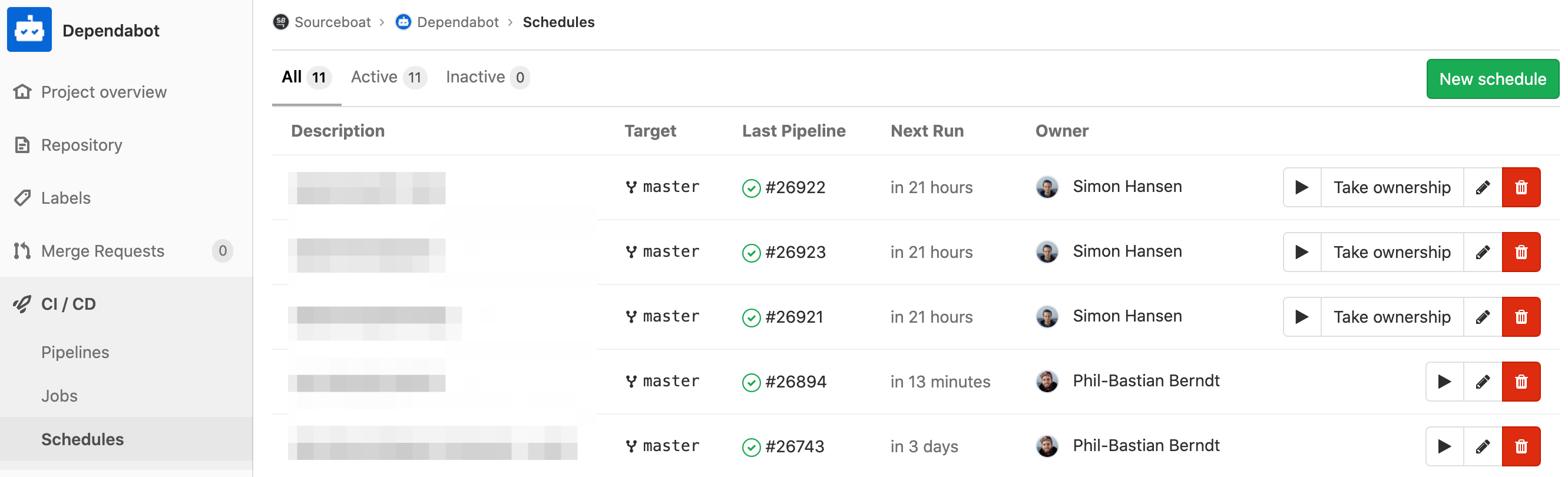 Scheduled Pipelines in GitLab
